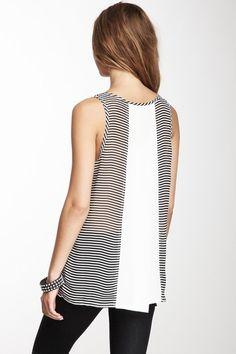 Striped Tank //blusas de este estilo, corte, tela y sobretodo longitud//