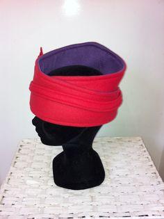 Rood met paars fleece hoofdband door FoxandThimble101 op Etsy https://www.etsy.com/nl/listing/211977444/rood-met-paars-fleece-hoofdband