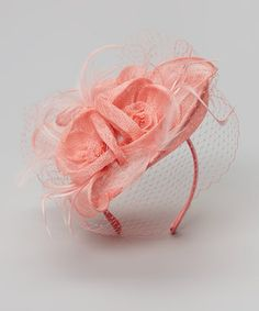 Pink Mesh Flower Headband by Jeanne Simmons Accessories #Derby #fascinator