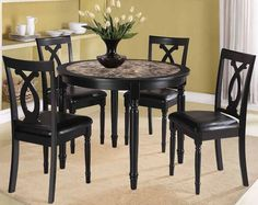 print of beautiful granite dining table set | perfect dining room