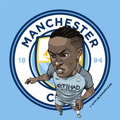Manchester City No.7 Raheem Sterling Fan Art
