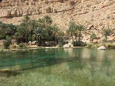 Wadi Bani Khalid Oman oasis in the desert