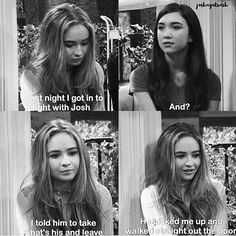 well Maya he had every right too. {#GirlMeetsWorld #mayahart #joshmatthews #sabrinacarpenter #uriahshelton #joshaya}