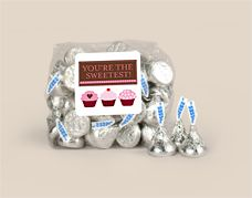 KISSES® candy Sweetest Day Gifts wrappedhersheys.com #sweetestday #personalizedfavor #holiday #whcandy Kisses Candy, Hershey Kisses, Valentine Chocolate, Hershey Chocolate, Sweetest Day, Personalized Favors, Candy Bags, Snow Globes, Valentines Day