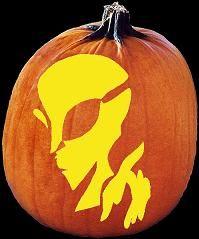 Alien Jack O Lantern I Love Halloween Pumpkin