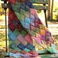 Knitting: Entrelac Scarf