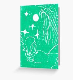 Winter Elf Mint Green  Greeting Card Framed Prints, Canvas Prints, Art Prints, Original Artwork, Original Paintings, Green Palette, Green Art, Art Boards, Mint Green