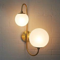 Pelle Sconce, Asymmetrical, Antique Brass/Clear, west elm