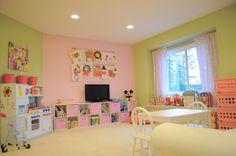 Nursery pink lace