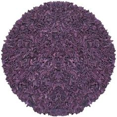 @Overstock - This soft, luxurious rug is made of leather strips of varying 1 to 3 inches in length to create the ultimate centerpiece of texture and depth. An elegant complement to any decor, the leather shag rug is extremely durable and very easy to care for.http://www.overstock.com/Home-Garden/Pelle-Hand-tied-Purple-Leather-Shag-Rug-4-Round/5876059/product.html?CID=214117 $65.99