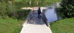 walking INTO a lake!