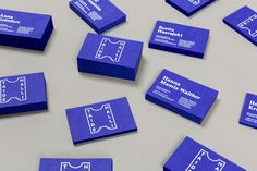 Brand identity and business cards for art gallery Taidehalli designed by Tsto.
