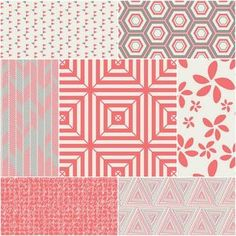 Minimalista Fat Quarter Bundle in Watermelon - this fabric is so fun.  I want a set in all four shades.