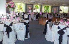 Dibble's Inn - Wedding Venue Set up - Black and White Wedding Table Ideas