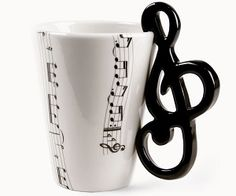 Treble Clef Mug. Maybe there's a bass clef out there somewhere.