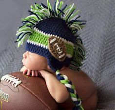 Newborn SeaHawks Hat by rosytoesesboutique on Etsy