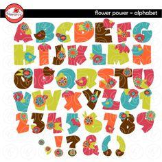 Flower Power Alphabet by Poppydreamz
