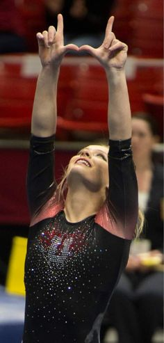 (Rick Egan  |  The Salt Lake Tribune)  Georgia Dabritz competes on the floor for the Utes, in the Pac-12 Gymnastics Championships at the Huntsman Center, Saturday, March 21, 2015.