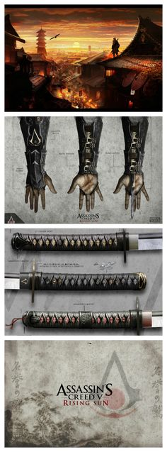 Assassin's Creed Rising Sun If this one comes up it would be a dream come true Assassins Creed Hoodie, Assassins Creed Series, Asesins Creed, All Assassin's Creed, Video Game Art, Video Games, Ninja Assassin, Armadura Sci Fi, Connor Kenway