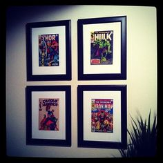 Instagram Inspiration: 19 Ways to Decorate Your Walls: Are you a comic book junkie? Or maybe a bookworm? Create a stunning display using your favorite comic books or novels. Hey, you could even go so far as to use your favorite record covers! Source: Instagram user gone_plaid