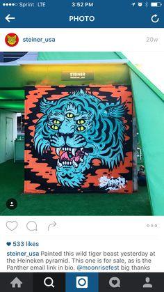 Multiple eyes tiger head