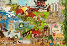 "Acrylbild ""Märchen"" von Hasse Ralf;  100 x 70 x 2 cm #Künstler #artist #Acrylbilder #Acryl Painting"