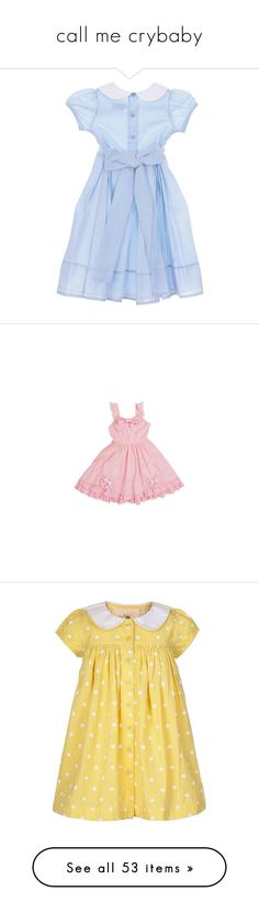 """call me crybaby"" by xluva ❤ liked on Polyvore featuring clothes, pastel, kawaii, Crybaby, dresses, blue, short dresses, vestidos, women and stripe dress"