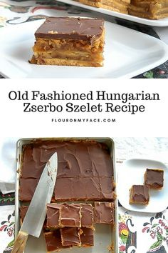 Old Fashioned Hungarian Zserbo Szelet recipe also known as Gerbeaud Cake