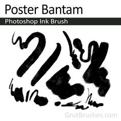 A nice thick and thin poster paint Photoshop ink brush