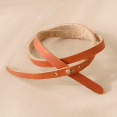 DIY leather belt.