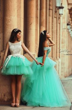 D g long dresses mint