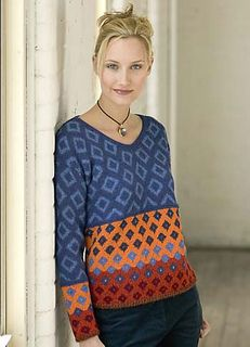 Mosaic Patterned Cable Pullover by Kim Barnette