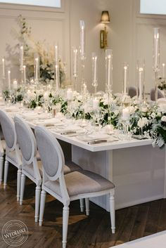 Inspired by their shared love of the festive season and the bride's affinity with a certain Duchess of Sussex, Deanna and Marc chose a white elegance theme for their big day. The couple based their design around a neutral base color, accented with frosty whites, silvers and greens, and brought to life with overflowing centrepieces … read on Winter Wonderland Wedding Theme, Winter Wedding Arch, Winter Weddings, Wedding Decorations, Table Decorations, Wedding Ideas, Wedding Tables, Wedding Shoot, Wedding Trends