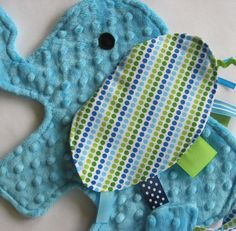 Eli Elephant Sensory Lovey Blanket by IcingOnTheCupcake on Etsy Sewing Crafts, Sewing Projects, Craft Projects, Sewing Baby Clothes, Baby Sewing, Baby Love, 2nd Baby, Baby Baby, Scrap Material