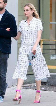Kruger always gets it right, but there's something to be said for pulling off a breezy checked blouse and matching culotte set that rings in at only $45. What's more is that you can buy the very same look on Forever 21 right. this. second.   - MarieClaire.com