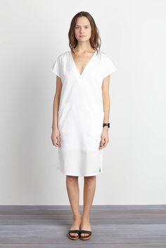 V Column Dress - Chalk | Emerson Fry