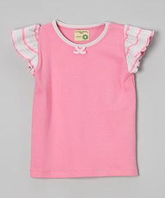 Pink Stripe Organic Angel-Sleeve Tee - Infant & Toddler  #affordable #infant #baby #organic #clothes