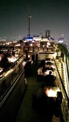 Great food,wine and views at the Vertigo Restaurant at the Banyan Tree Hotel Bangkok.
