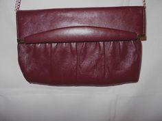 Ande Brown Clutch Bag with Gold Adornment & Chain Strap Small Leatherette #Ande #Clutch