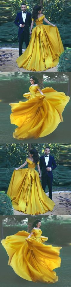 Off the shoulder 2018 fashions Prom dresses Formal Dress 2018 Yellow Prom Dresses Sexy Summer Evening Gowns M0389#prom #promdress #promdresses #longpromdress #promgowns #promgown #2018style #newfashion #newstyles #2018newprom#eveninggowns#offshoulderpromdress#yellowpromdress#sexypromgown