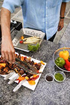 El blog de Los Peñotes: accesorios de #barbacoas. Bandeja de acero especial para asar verduras.