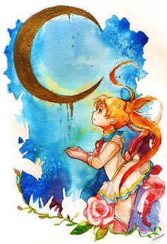 Sailor Moon S - Falling sky by YamYami-Shin