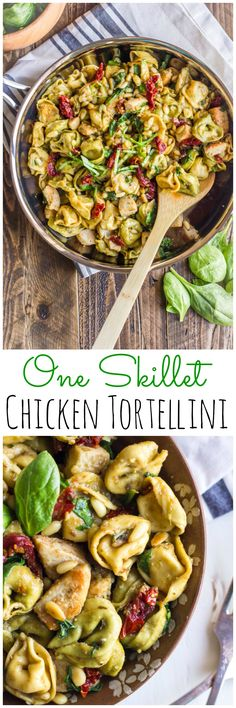 One skillet and this chicken dinner is done! #OnePotPasta