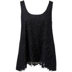 Forever New Emmaline Lace Front Swing Tank (465 MXN) ❤ liked on Polyvore featuring tops, shirts, tank tops, blusas, tanks, scoop neck shirt, lace up top, button shirt, lace up tank and scoop neck tank