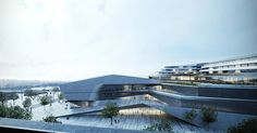 kengo kuma and associates has shared images of its design for a congress center and philharmonic hall for the french city of angers.