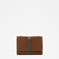 ZARA - COLLECTION SS16 - LEATHER MESSENGER BAG WITH METAL DETAIL