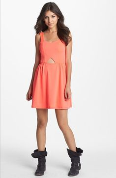 Minty Cutout Skater Dress (Juniors) (Online Only) available at #Nordstrom