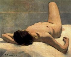 nude figurative painting by Ramon Casas i Carbó, 1903 Spanish Painters, Spanish Artists, Ramones, Modernisme, Inspirational Artwork, Life Drawing, Art Plastique, Caricatures, Figure Painting