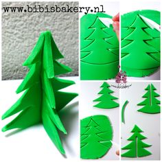 This is the easiest way to make an abstract Christmas tree. Isn't it funny looking  The next step is to put ornaments in it  If you make anything using my pictorials, please share it with me. I cannot wait xxx Bibi