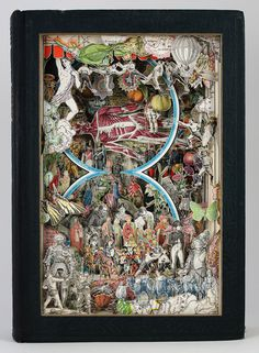 New Sculptural Collages Made from Antiquarian Books by Alexander Korzer-Robinson
